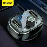 Baseus Bluetooth 5.0 FM Transmitter Auto USB Ladegerät Adapter SD AUX MP3 Player