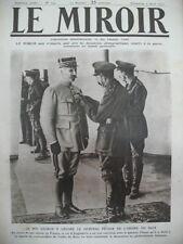 WW1 ROI GEORGE V DECORANT DE L'ORDRE DU BAIN LE GENERAL PETAIN LE MIROIR 1917
