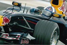 David Coulthard mano firmato RED BULL RACING FOTO 12X8 6.