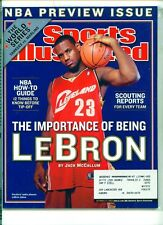Sports Illustrated October 27, 2003 NBA Preview LeBron James Cleveland Cavaliers