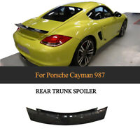 Carbon Fiber Rear Trunk Lid Spoiler Boot Wing Lip For Porsche 987 Cayman 2005-12