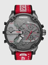 Men's DZ7423 Mr. Daddy DIESEL Grigio Rosso Silicone Multi-Zone Cronografo