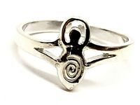 Toe Ring Goddess Moon Gaia Sterling 925 Silver Adjustable Pagan Wiccan Boho