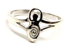Toe Ring Goddess Moon Gaia Sterling 925 Silver Adjustable Pagan Wiccan Boho
