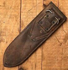 Original WWII USMC Bolo Knife Leather Scabbard Sheath ONLY