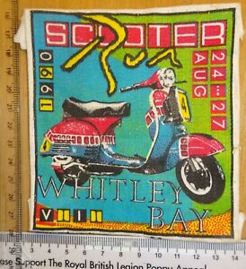 Scooter Rally Patch 1990 Whitley Bay Paddy Smith Original