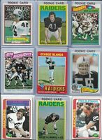 Raiders Vintage All-Time Greats Lot of (40) Different w/ Rookies Blanda Stabler