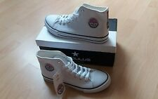 Nebulus Herren Sneakers Schuhe Jersey Gr. 45 in weiß Neu mit Etikett