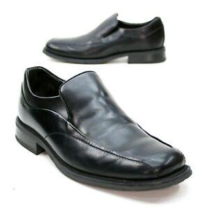 Florsheim Men's 9.5 M Bike-toe Black Leather Slip-on Dress Loafers