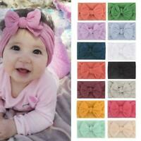 Toddler Girls Baby Turban Solid Headband Hair Band Headwear Bow Accessories S7Z2