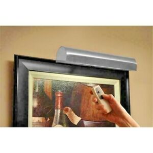 Concept Lighting 105L Cordless LED Picture Light 11.5-Inch Satin Nickel w/Remote