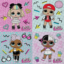 LOL Surprise Character Face Cloth, Choice of 4 designs, 100% cotton,