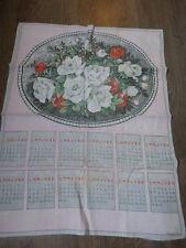 calendrier tissus bouquet de roses  ,1969 (cp1)