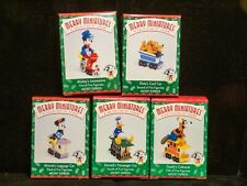 Hallmark Merry Miniatures Ornaments Mickey Express All 5 figurines of the Series