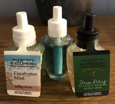 Lot Of 3 Bath & Body Works Wallflower Fragrance Scent Refills Eucalyptus Mint