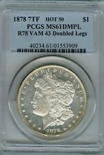 1878 VAM 43 Doubled Legs PCGS 61 DMPL Hot 50 Morgan $1 Old Holder-Fey Collection