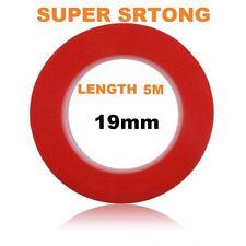 19mm rouge double face adhésive collante tape easy lift super fort longueur 5M