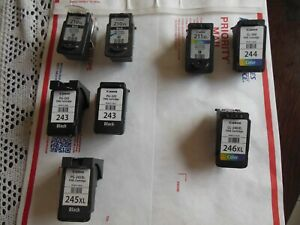 EMPTY **Lot - 8 * Canon Ink Cartridges * 210/243/245/211/246 * Free  Shipping