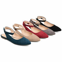 Brinley Co. Womens Pam Sling-back Ankle Strap Flats