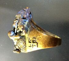 Ganesha Ring God Nice Elephant Amulet Thai Ganesh Hindu Amulets Antique Brass