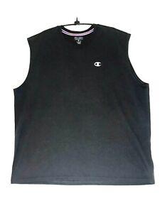 NWOT Champion Authentic Athleticwear Black Sleeveless Exercise Shirt Size 2XL