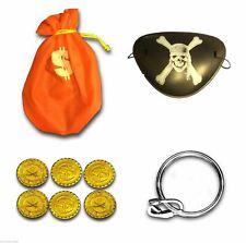 Kids Children Pirates Warrior Fancy Dress Accessories Eye patch Coins Pouch UK