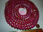 Christmas Garland Mercury Glass, Purple/Pink 104' Long 3/8' Beads B367 Vintage