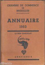 Annuaire 1960, Chambre de Commerce Bruxelles, Industrie, Artisanat, Publicités