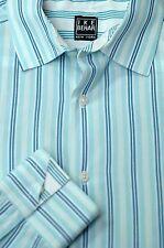 Ike Behar Boy's Blue & White Stripe Cotton Casual Shirt L Large