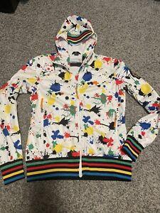 rossignol jc de castelbajac - White With Rainbow Colored Splash Jacket Child XL