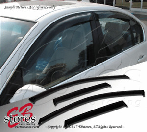 Out-Channel Vent Shade Window Visors For Chevy Silverado 1500 Ext Cab 17-18 4pcs
