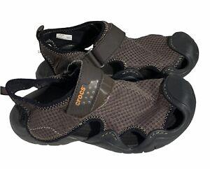 Mens Crocs Swiftwater Sandals Casual Mesh Comfort Fisherman 15041 Size 7M AB0317