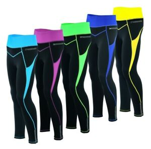 Women Winter Cool Max Padded Cycling Tights Trousers Running Thermal Leggings