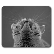 Rectangle Mouse Mat BW - Funny Cute Cat British  #42544