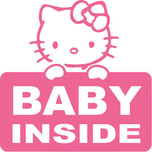 BABY INSIDE CAR STICKER, BABY IN CAR DECAL. MANY COLOURS