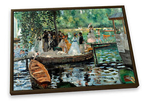 Pierre-Auguste Renoir La Grenouillere CANVAS FLOATER FRAME Wall Art Print