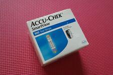 100 Accu-Chek Smartview Diabetic Glucose Test Strips 08/2021 Pilled Box New