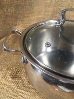 Belgique Stainless Steel 3-Qt. Covered Soup Pot Saucepan Stockpot Cookware 10639