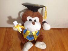 Graduation Monkey Plush Stuffed Animal with Cap LIGHT BROWN
