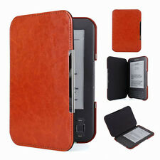 QW Brown Slim Leather Protector Pouch Case Cover For Amazon Kindle Keyboard