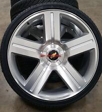 "26"" Rims & Tires Texas Edition Style Silver Wheels Chevy Silverado Yukon Sierra"