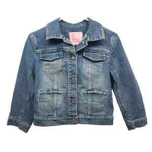 Gianni Bini Crop Denim Jacket 3/4 Sleeve XS NWOT