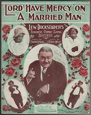 Lord Have Mercy on A Married Man 1911 Large Format Sheet Music