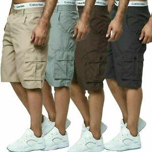 Herren Shorts Bermuda Cargo Pants Vintage Casual Sommer Capri Kurze Hose 2022