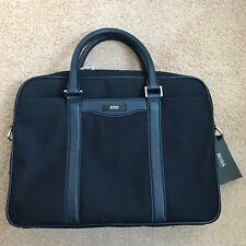 AUTHENTIQUE HUGO BOSS Compact Nylon Cuir Signature Workbag bleu foncé £ 450