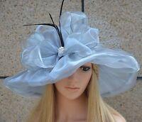 Womens Formal Church Wedding Kentucky Derby Wide Brim Tea Party Sun Hat A342