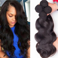 8A Thick 3 Bundles/150g 100% Brazilian Human Virgin Hair Body Wave Weave Weft