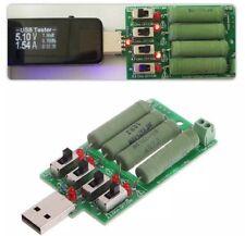 Interruttore regolabile 5V USB CARICA elettronica resistenza di scarico 15 tester corrente
