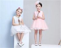 Beautiful Bow Ivory Lace Flower girls Bridesmaid Princess Wedding  Party Dress