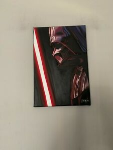 """Darth Vader Star Wars 12""""x18"""" Pop Art Painting Chris Cargill"""